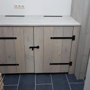 Custom Steigerhout Wasmachine Meubel
